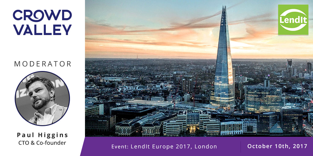 Paul Higgins, Crowd Valley CTO, Moderator at Lendit Europe in London