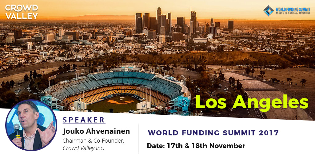 Crowd Valley Chairman Jouko Ahvenainen at World Funding Summit in Los Angeles
