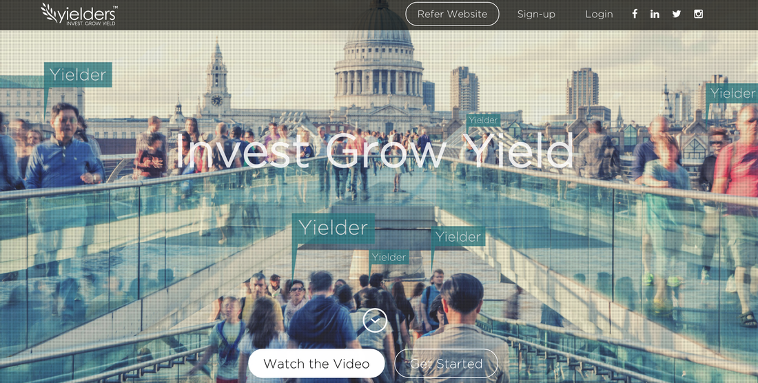 Yielders website homepage - real estate crowdfunding